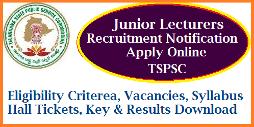 REIS Junior Lecturers/ JLs Recruitment Notification By Telangana Public Service Commission Apply Online TSPSC inviting Online Applications for Junior Lecturer Posts in Telangana Residential Educational Institutions Society. Eligibility Criterea, Qualifications, Syllabus, Scheme of Examinations Checkout here. Download Hall Tickets, Key, Results for REIS JLs Recruitment Notification by Telangana State Public Service Commission. Eligible and Intended Candidates may Apply Online at Telangana Public Service Commission Official Website http://tspsc.gov.in. Junior Lecturers Vacancies in Telangana Residential Schools  reis-junior-lecturers-jls-recruitment-eligibility-vacancies-key-results-tspsc.gov.in-download