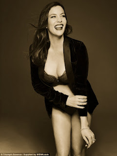 Liv Tyler flaunts curves for the Triumph Essence Lingerie Campaign