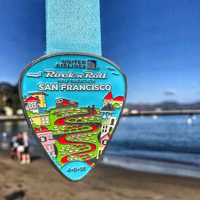 Rock'n'Roll San Francisco Half Marathon medal 2018