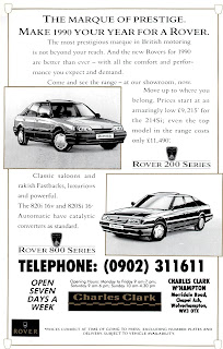 Charles Clark, Wolverhampton Rover Group advert