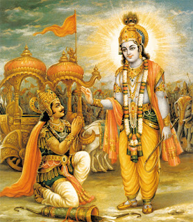 Кришна и Арджуна на Курукшетре