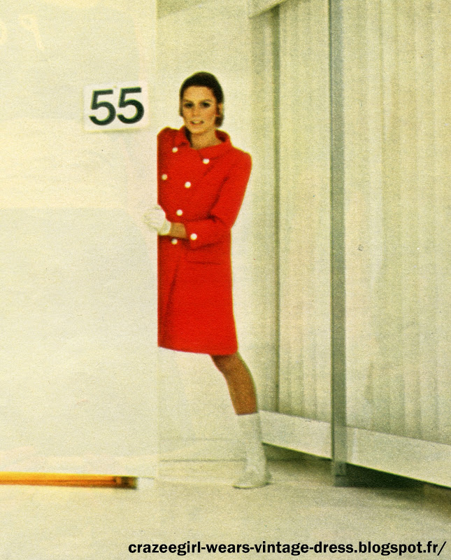 andre courreges dress robe 1967 sixties fashion 1960 60s