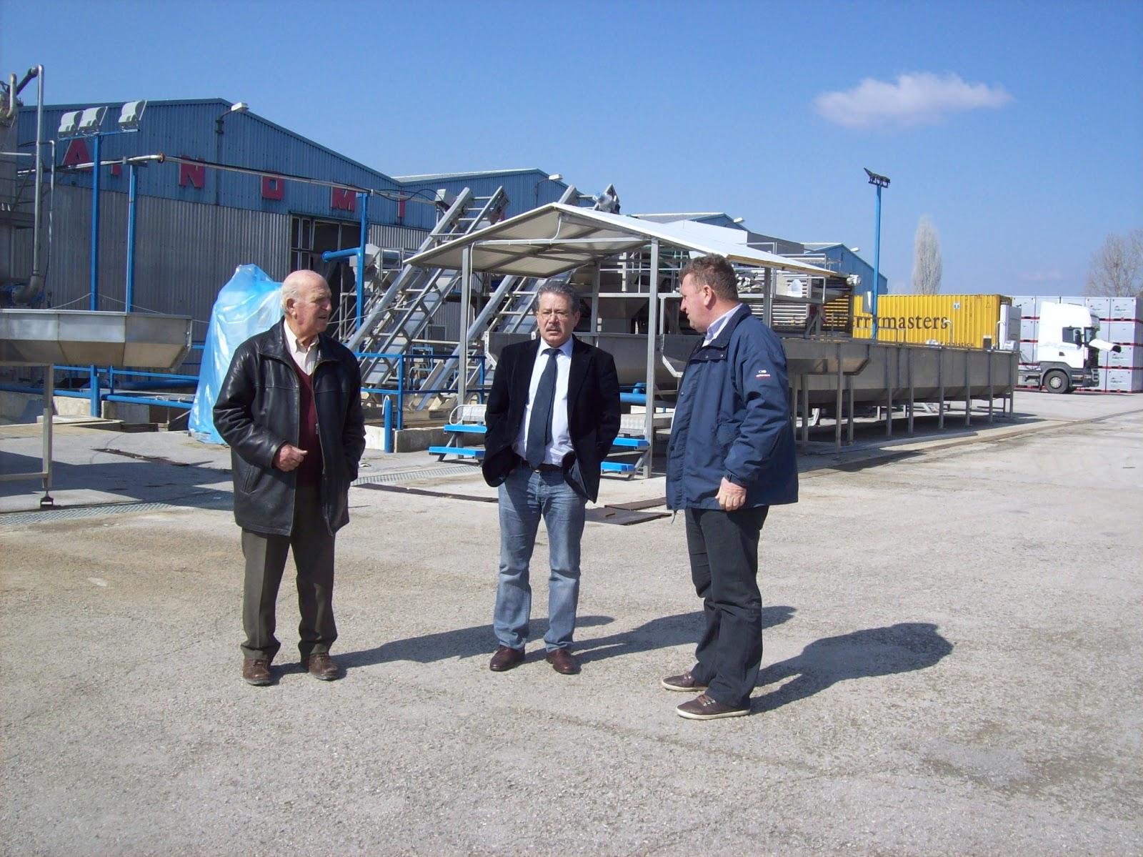 Επίσκεψη του Δ. Μπουραντά σε βιομηχανική μονάδα