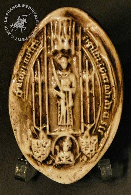 Sceau daté de 1370 appartenant à l'évêque Thierry V Bayer de Boppart (1365-1384)
