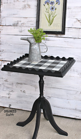 Garage Sale Pedestal Table Upcycle
