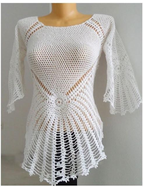 blusa crochet patrón gratis