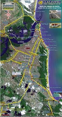 Mapa das praias de Natal