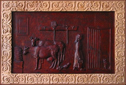 El establo (versión actual). Talla en madera