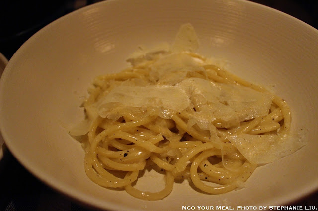 Bucatini Cacio e Pepe with Pecorino Romano, and Black Pepper at Upland
