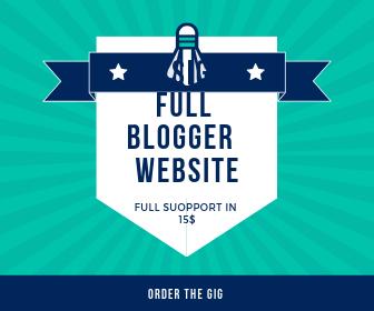 Full Blogger Responsive Website  designer