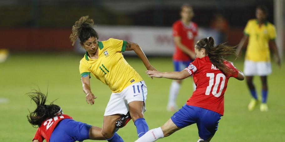 Chile y Brasil en Copa América Femenina 2014, 18 de septiembre