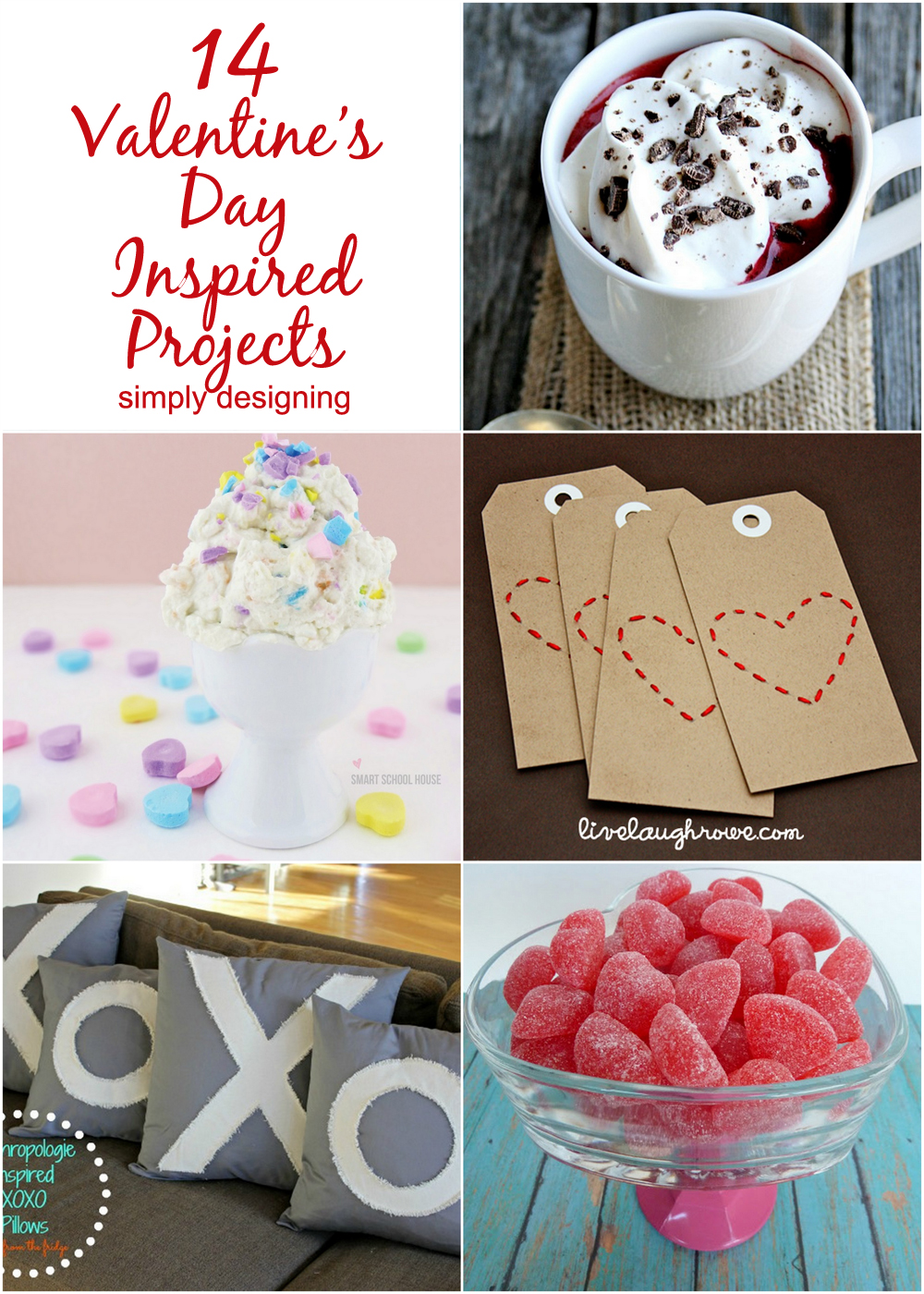 14 Valentine's Day Inspired Projects | #valentinesday #hearts #love #diy