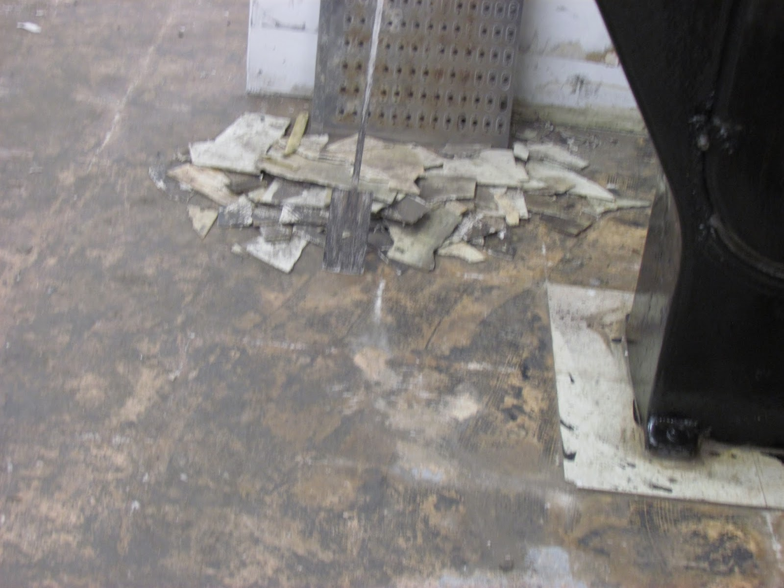 Another Improper Floor Tile Removal