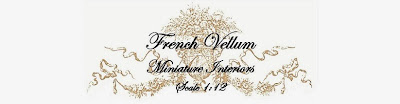 French Vellum Miniature Interiors