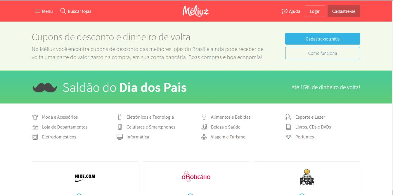 d65807378 O Méliuz tem parceria com mais de 1.600 lojas e nossas queridinhas como  C&A, Zattini, Marisa, Sephora, Posthaus, Magazine Luiza, Casas Bahia,  Extra, ...