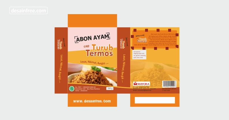 Desain Box Kemasan Makanan Keren Format CDR - Desain Free