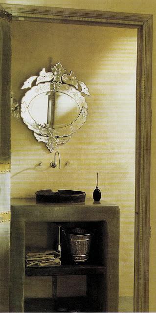 Contemporary/exotic vanity, image via Côté Sud Dec05-Jan06, edited by lb for linenandlavender.net