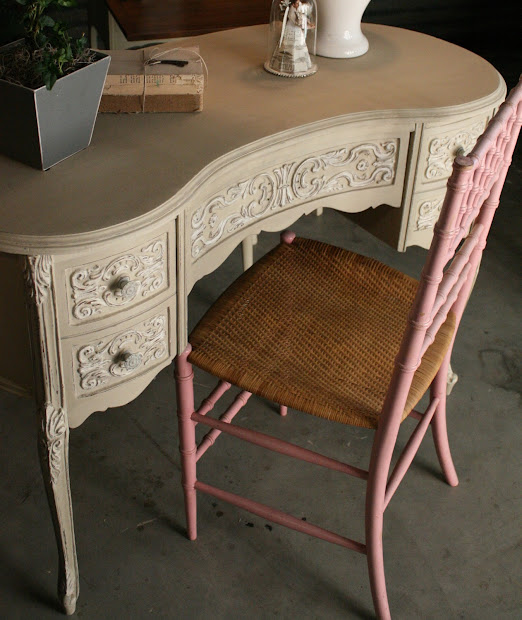 Antique Vanities Painted with Chalk Paint