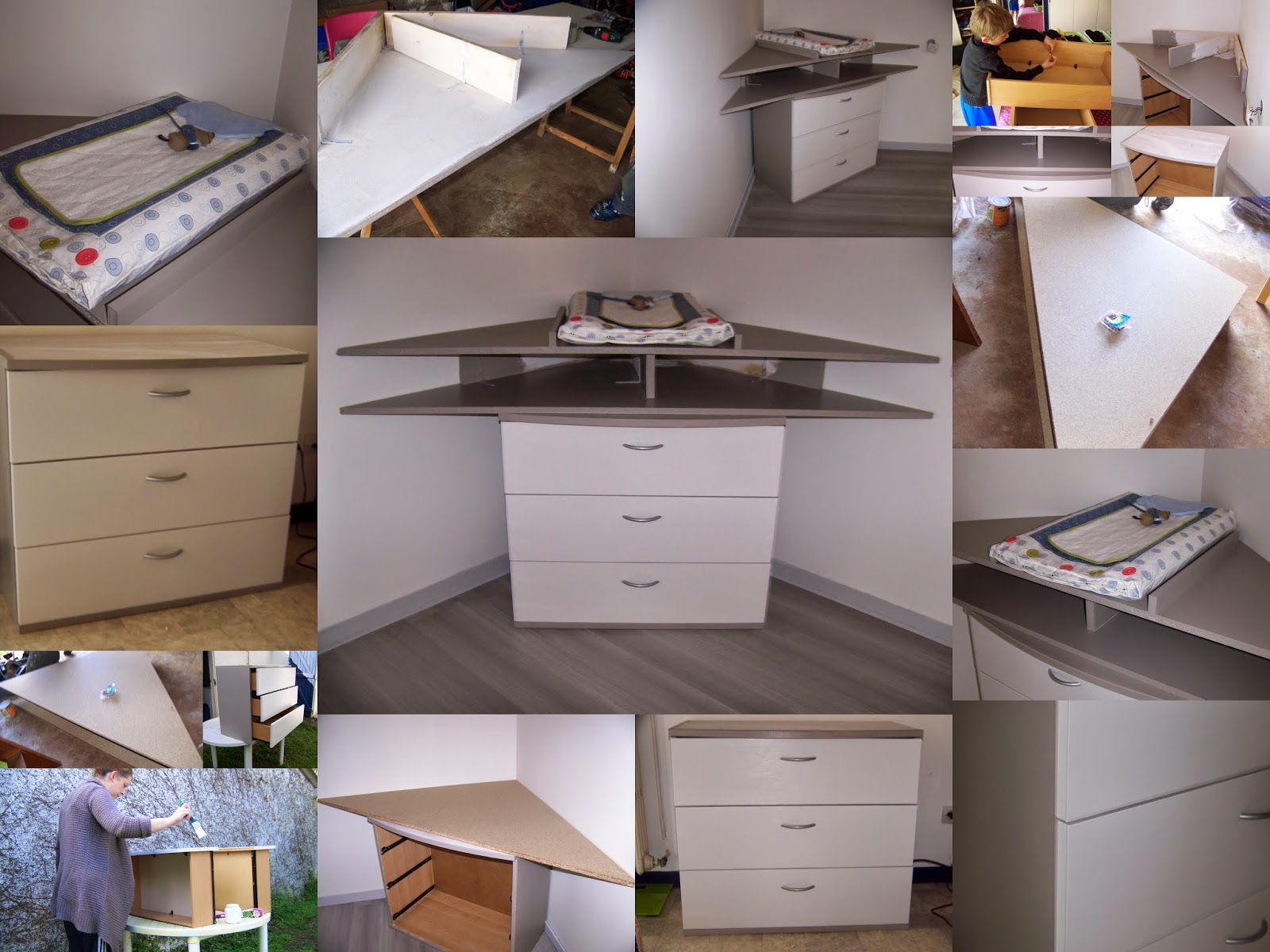 transformer une commode en table langer l 39 atelier de sonia. Black Bedroom Furniture Sets. Home Design Ideas