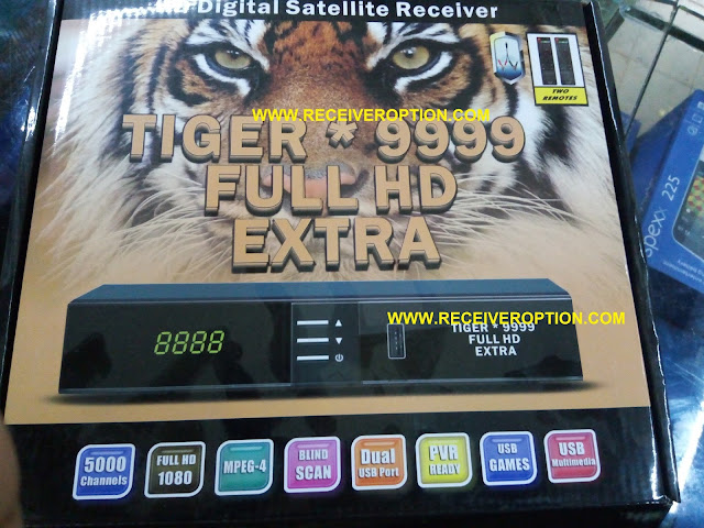 TIGER 9999 FULL HD EXTRA RECEIVER CCCAM OPTION