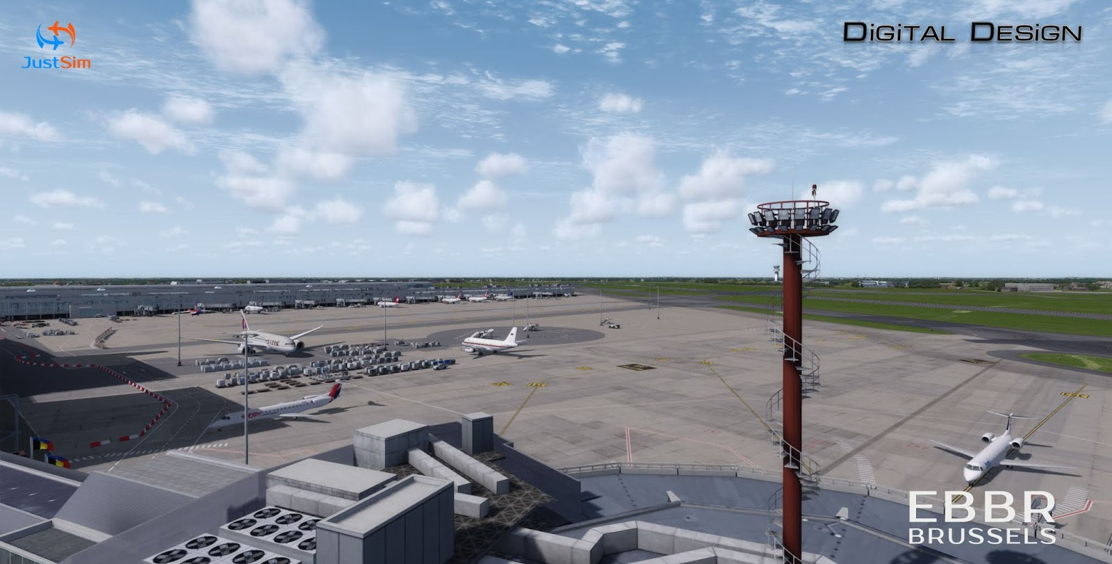 JustSim - Brussels International Airport (EBBR) New release for