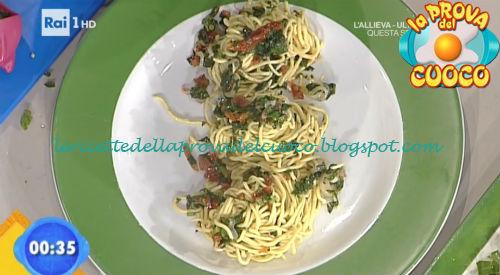 Tagliolini con caciocavallo broccoletti e pomodori secchi ricetta Bertol da Prova del Cuoco