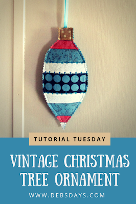 Homemade Quilted Fabric Vintage Christmas Tree Ornament Sewing Project