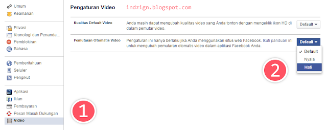Menonaktifkan Video di Facebook