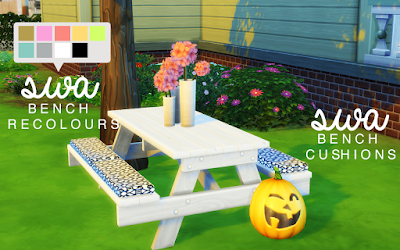 My Sims 4 Blog Picnic Table Amp Cushions Set By