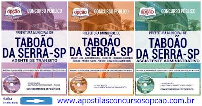 Apostilas Concurso Público Nº 07/2018 Prefeitura de Taboão da Serra (SP)