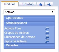 Módulo de Activos - Productos Web de eFactory: ERP/CRM, Nómina, Contabilidad, Punto de Venta, Productos para Móviles y Tabletas