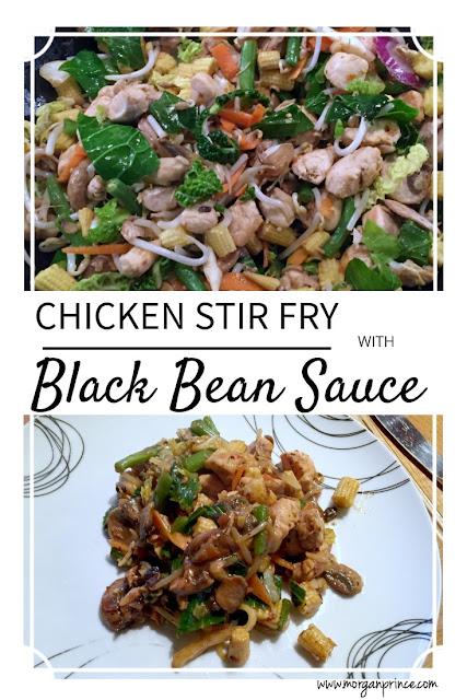 chicken stir fry with black bean sauce