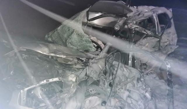 В Башкирии большегруз столкнулся с Toyota RAV4