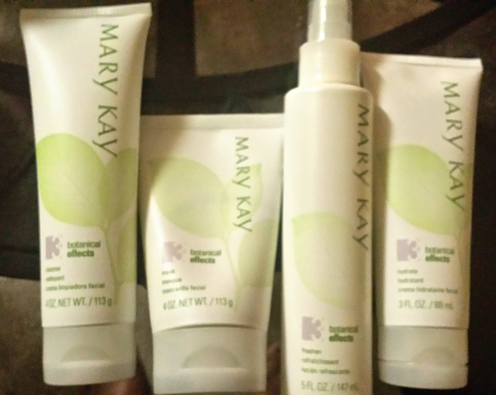 Mary Kay's Botanical Effects™ Skin Care Four Piece Set and ...