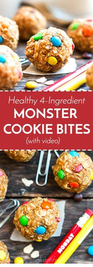 Healthy Monster Cookie Bites