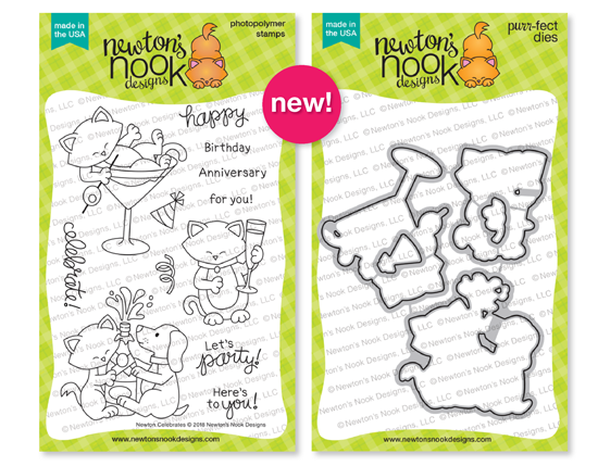 Newton Celebrates Stamp and Die Set by Newton's Nook Designs #newtonsnook