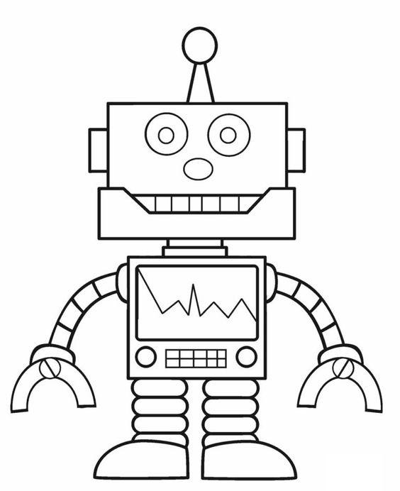 Tranh tô màu Robot 5