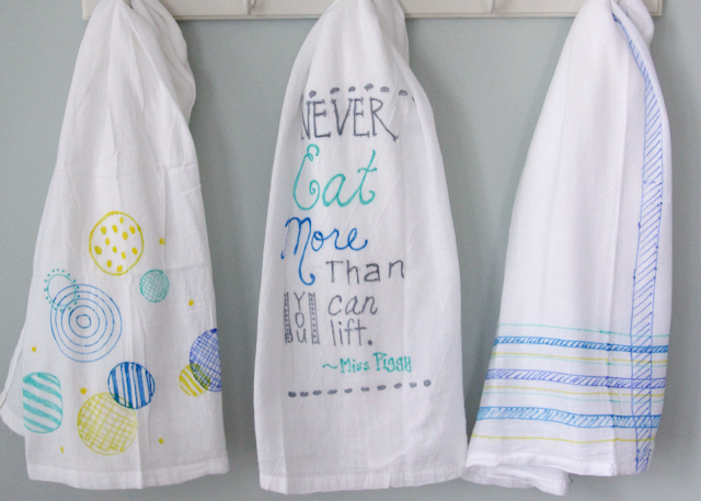 DIY colorful tea towels {Guest Post} | Skip To My Lou