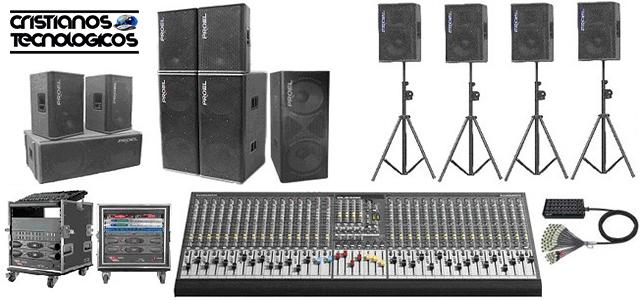 sistema de sonido,tecnología,instrumentos, equipos de sonido profesionales