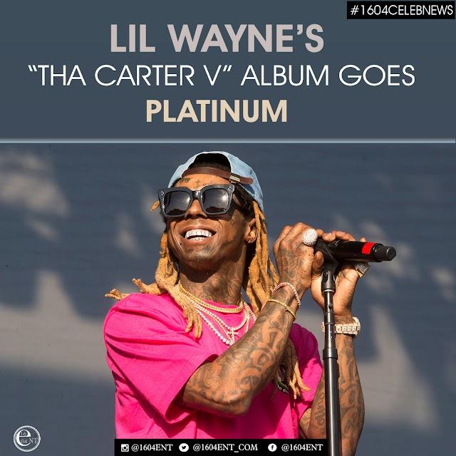 News:Lil Wayne's 'Tha Carter V' Album Goes Platinum