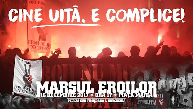 Marsul Eroilor 2017. Eveniment dedicat eroilor revoluției din Decembrie 1989