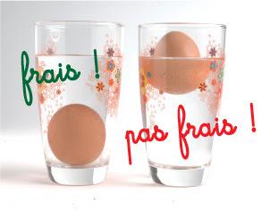 Comment savoir si un œuf est frais ?