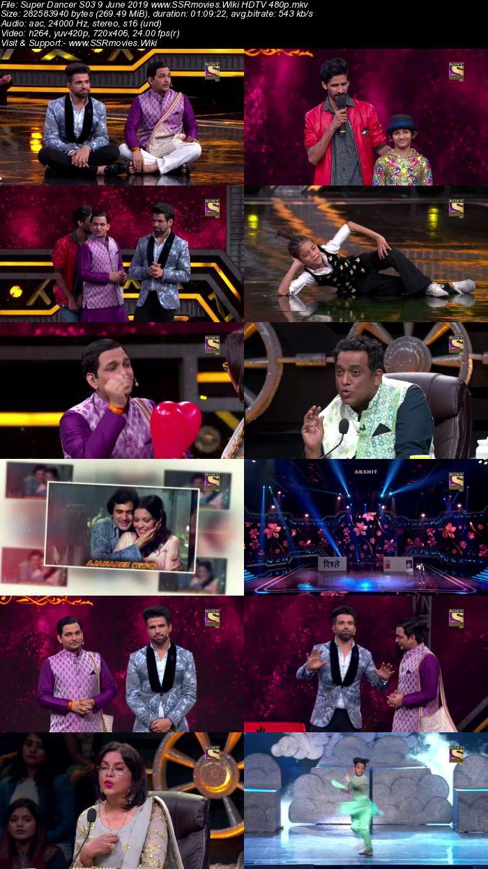 Super Dancer S03 9 June 2019 HDTV 480p Full Show Download
