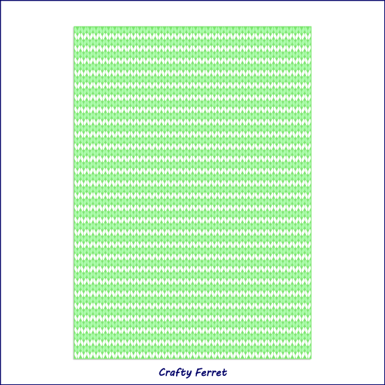 A4 printable green knitting effect craft backing paper.