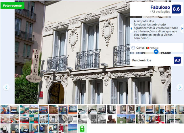 Hotel les Cigales em Nice