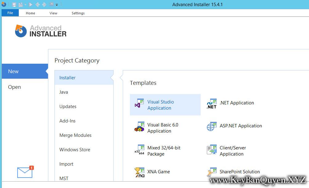 Advanced Installer Architect 15.4.1 Full Key, Ứng dụng tạo bộ cài đặt phần mềm chuyên nghiệp.