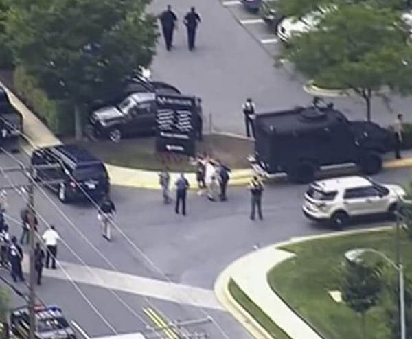 Mass Shooting In Capital Gazette newspaper Annapolis Washington