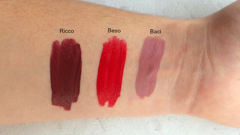 stila eternal love liquid lipstick set swatches