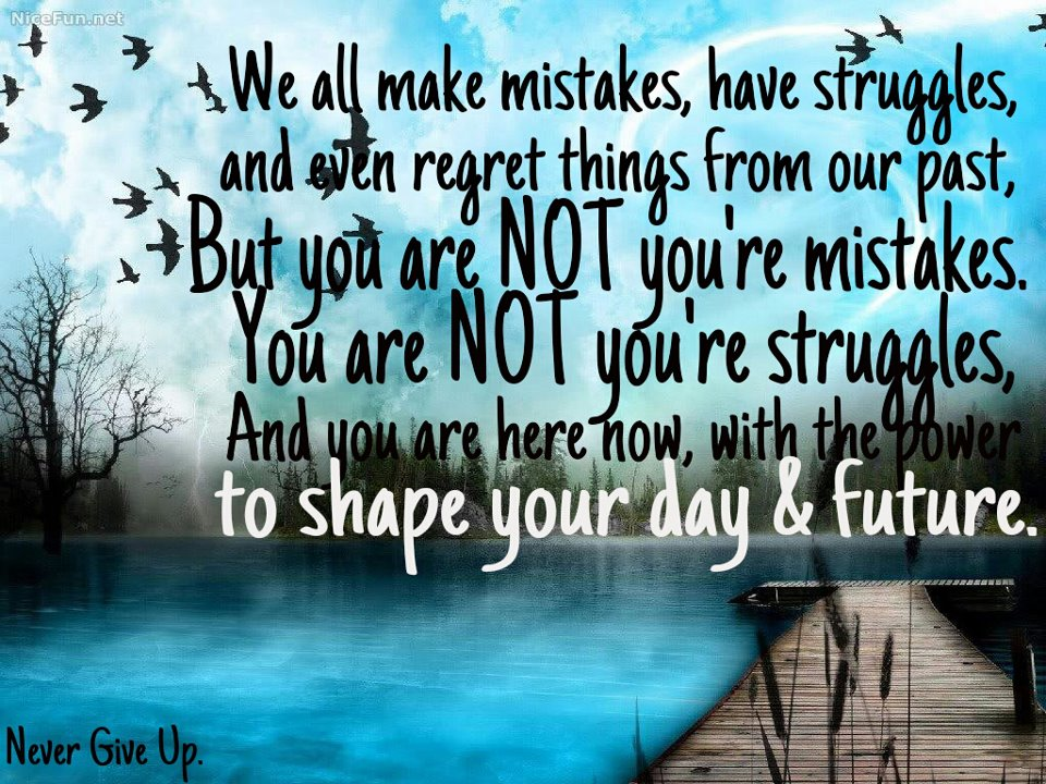 Quotes Inspiration We All Make Mistakes Have Struggles And Even