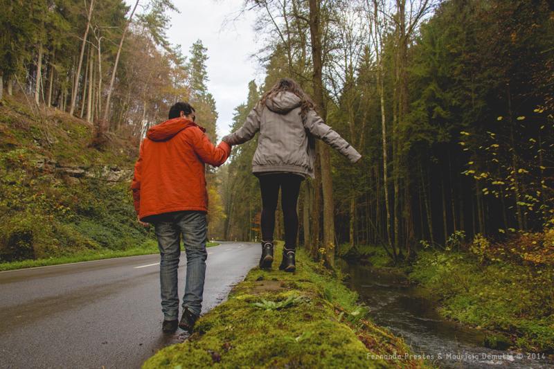 caminhando em Mullerthal